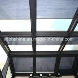 Doppeltes Glas mit aufgebaut in den Bienenwabe-Vorhängen für Schattierung oder Partition