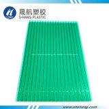 Panneau vert en cristal de cavité de polycarbonate avec l'enduit UV