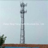 Torre tubular de la telecomunicación de poste de la instalación fácil