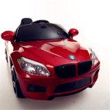 O carro elétrico do brinquedo dos miúdos, passeio no carro, caçoa o carro do brinquedo