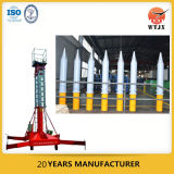 Cilindro hidráulico telescópico gradual para el material de construcción