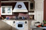 Gabinete de cozinha da madeira 2017 contínua, mobília da cozinha da madeira contínua (zq-022)