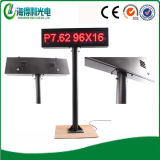 Diodo emissor de luz Display Screen Sign de P7.62 Car Parking, diodo emissor de luz Moving Sign com Stand (P7629616RO)