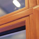 Ventana de aluminio colorida de madera del marco del perfil con el bloqueo multi Kz137