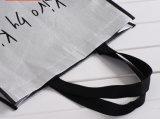 Saco de compra não tecido metálico de prata dos sacos de Tote