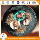 12/3 cordon lourd supplémentaire flexible en caoutchouc de Soow, noir, câble de Sjoow