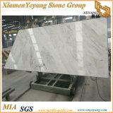 Lastra di Castro grandi e mattonelle di marmo Polished bianche, marmo bianco del fiammifero in bustina (YY-MS197)