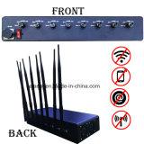 Binnen Desktop 8 Stoorzender van het Signaal Jammer/GPS van de Telefoon van Kanalen 5W de Mobiele/de Stoorzender van het Signaal van de Telefoon van de Vraag