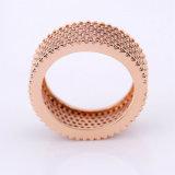 Nuevo anillo de dedo plateado del Mens de la protuberancia del diseño 2017 oro de cobre
