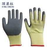 21g Polycotton Windung-Latex-Sicherheits-Handschuhe mit Cer