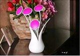 Kind-Nachtlicht mit Fühler-Selbstan/aus-Nachtlampe USB-nachladbarem Blumen-Vasen-Schlafzimmer-Licht