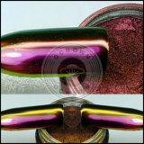 Polvo mágico cosmético del polaco de clavo del color de la rotación del camaleón