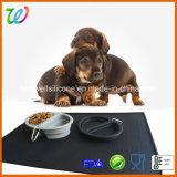 Циновка еды пусковой площадки собаки вспомогательного оборудования любимчика силикона подавая