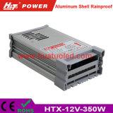 bloc d'alimentation antipluie de l'interpréteur de commandes interactif en aluminium continuel DEL de la tension 12V-350W