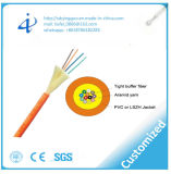 Faisceau du câble fibre optique 24 de distribution avec le PVC multi de mode
