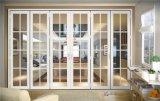 Porta de alumínio deDobramento/porta de vidro para o balcão e o Vilas