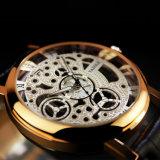 [ز321] هيكليّة ساعة نساء قوّم ساعة خارجا مؤشّر [روس] نوع ذهب سيدة [وريستوتش]
