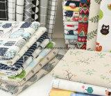 Tissu de l'impression 100%Linen pour le sofa réglé de Tableau de rideau en robe