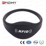 Wristband su ordinazione del chip RFID di promozione 13.56MHz MIFARE di stampa