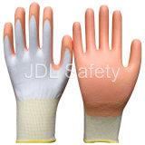 Белая Nylon перчатка работы при покрынная ладонь PU (PN8006)