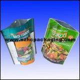 L'uso industriale progetta il sacchetto per il cliente di plastica con la chiusura lampo