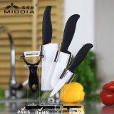 Atacado 5 peças de faca de cozinha cerâmica Set com titular para casa / produto de cozinha