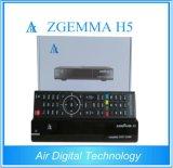Combo Receptor Zgemma H5 com Bcm73625 Dual Core DVB-S2 + DVB-T2 / C Sintonizadores híbridos Hevc H. 265 HD Receiver