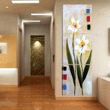 La pintura de pared moderna de la venta caliente de 3 pedazos florece el cuadro del arte de la pared de la decoración del sitio de la pintura pintado en la decoración Mc-219 del hogar de la lona