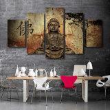 HD ha stampato la pittura del gruppo del Buddha sulla maschera Mc-013 incorniciato tela di canapa del manifesto della stampa della decorazione della stanza della tela di canapa