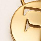 De nieuwe Tegenhanger van de Kwaliteit van het Ontwerp Gouden Ronde voor Zak, de Toebehoren van het Kledingstuk