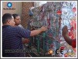Pressa per balle di carta idraulica semi automatica del cartone di alta qualità di Hellobaler