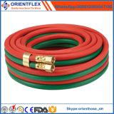 Tubo flessibile gemellare di gomma dell'acetilene e dell'ossigeno