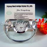 Reloj cristalino del pisapapeles (BJ0055)