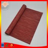 De in het groot VinylStijl Placemat van het Bamboe van de Keuken van de Mat van de Lijst Rode