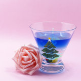 OEMのラベルの中国の装飾のコップのゲルの蝋燭