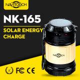 Двойной перезаряжая фонарик светящей дороги напольный солнечный сь (NK-165)