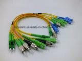 Cabos de correção de programa da fibra óptica