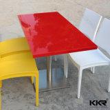 Tabella pranzante di pietra artificiale delle sedi della mobilia 4 del salone