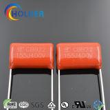 Cbb22 Rode Kleur van het Polypropyleen van de Film van de Reeks de Condensator Gemetalliseerde voor Toestellen