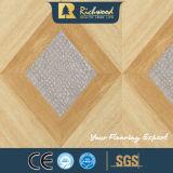 コマーシャル12.3mmのWoodgrainの質のV溝がある防水Laminbated床