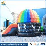 Dôme gonflable de vente chaud de disco de videur avec la glissière pour sauter