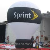 globo de tierra inflable enorme del arco iris del 15FT con insignia de la bandera