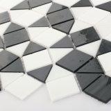 De zwart-witte Bladen van het Mozaïek van het Gebrandschilderd glas van de Tegel van de Badkamers van de Keuken