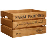 Pine&Paulownia naturel Wood Crates pour Storage et Saving