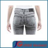 女性は作る細いデニムのジーンズ(JC1350)を