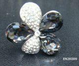 Anneau en cristal en verre (ENJR009)