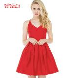 """Senhora vermelha quente Pingamento do vestido do vestido """"sexy"""" Backless da mulher"""
