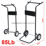 85 libras 15HP Outboard Boat Small Motor e Engine Stand Steel Carrier Cart Dolly