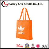 Respetuoso del medio ambiente PP de color no tejidas bolsa de asas de compras