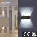 Indoor Strahlung Freie rechteckige schwarze Wandleuchte